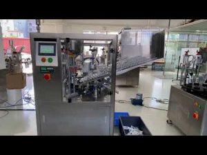 автоматическая машина для наполнения пластиковых туб для зубной пасты с кремом для рук
