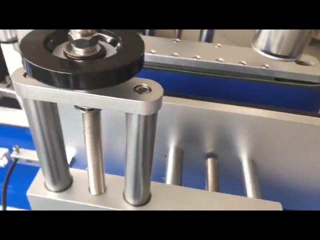 машина для прикрепления этикеток круглой бутылки двухстороннего стикера заваривать ярлыка автоматическая