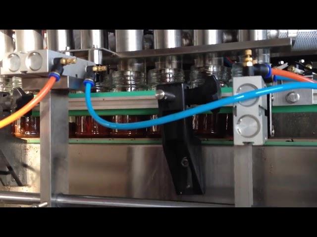 автоматическая машина для розлива томатного соуса в шоколадное арахисовое масло
