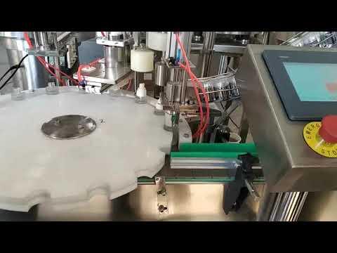 машина для розлива в бутылку с кислотой