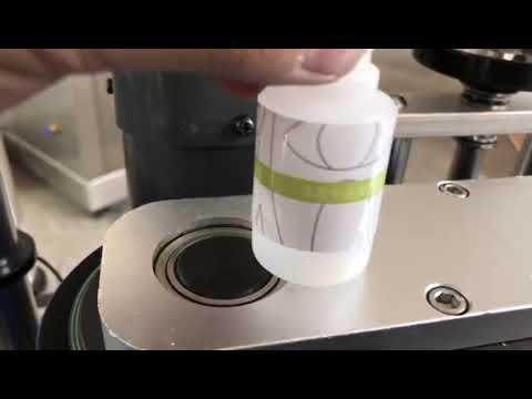 машина для прикрепления этикеток стикера круглой бутылки малого настольного компьютера автоматическая