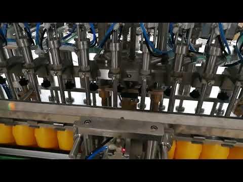 Автоматическая разливочная машина с 12 головками для косметического соуса с кетчуповым маслом