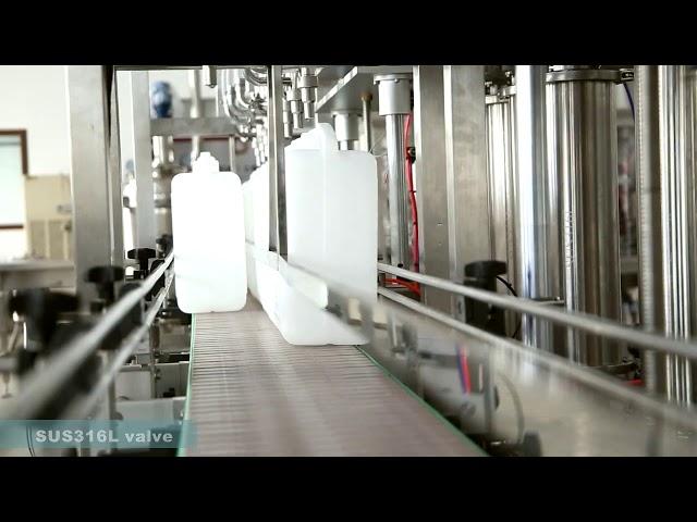 полностью автоматическая этикетировочная машина для заливки масла