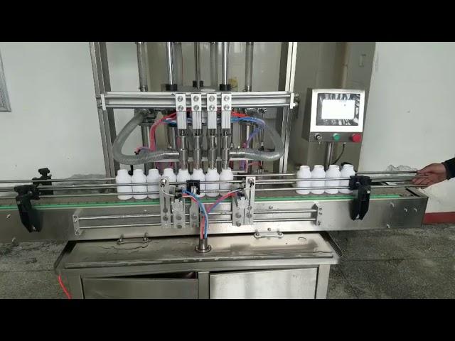 автоматическая машина для наполнения бутылок для жидкого мыла, лосьон для тела, шампунь