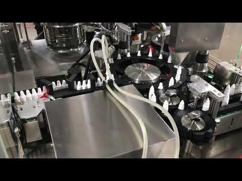 Фармацевтическая машина для наполнения глазных капель на 20 мл.
